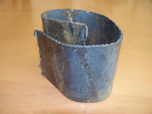 Homage. Steel, copper; 8 cm x 9 cm x 8 cm.  Kathleen C Cooper (2012).